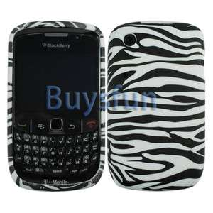 Black Zebra GEL Case Cover Skin For Blackberry Curve 8520 8530