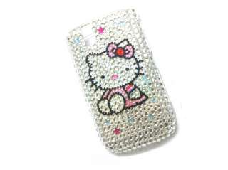 Hello kitty Rhinestone Bling Case BlackBerry Tour 9630