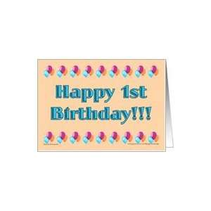 !st Birthday Boyl Card Toys & Games