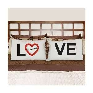 Valentines Day Personalized Names Love Pillowcase Set