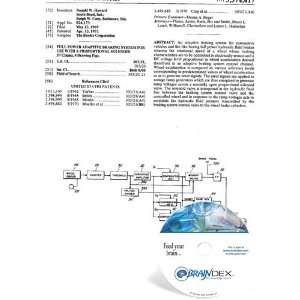 NEW Patent CD for FULL POWER ADAPTIVE BRAKING SYSTEM FOR