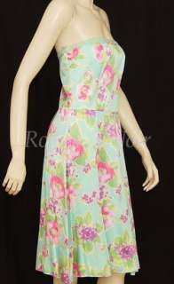 SALE BLUGIRL BLUMARINE silk flower print dress 44/8