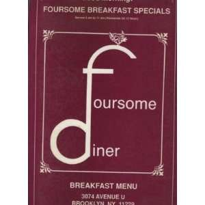 Foursome Diner Breakfast Menu Avenue U Brooklyn NY