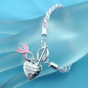 Bracelet ~ Breast Cancer/Pink Ribbon Awareness ~ (Rope