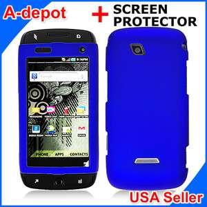 Mobile Samsung SideKick 4G T839 Blue Rubberized Hard Case Cover