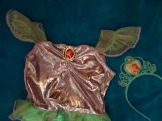 THE LITTLE MERMAID DISNEY TIARA COSTUME GIRL 4 6X USED