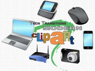 Modern Tech Icons Clip Art CD   Web Affiliate Marketing