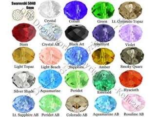 200 Color Optional Swarovski Crystal 5040 6mm Briolette Beads CR09