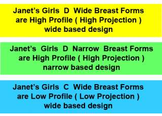 Janets Girls Silicone Breast Forms Mastectomy Crossdresser 24 sizes