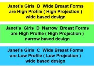 Janets Girls Silicone Breast Forms Mastectomy Crossdresser 24 sizes