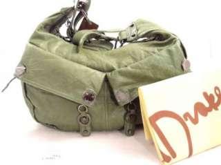 NWT Junior Drake BROOKLYN Green Italian leather handbag purse bag