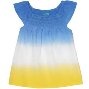 The Childrens Place Girls Dip dyed Smocked Top Shirt