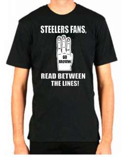 BROWNS FAN HATE STEELERS FUNNY FOOTBALL CLEVELAND SHIRT
