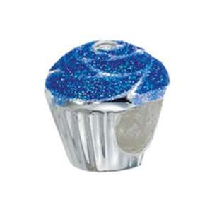 Zable(tm) Sterling Silver Cup Cake Bead / Charm Finejewelers Jewelry