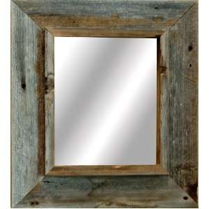 Western Rustic Mirror   Reclaimed Barnwood (20x30 frame