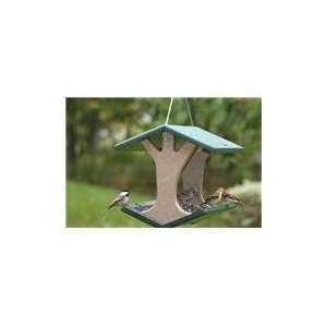 Birds Choice Recycled Hanging Fly Thru Bird Feeder Patio