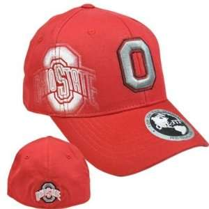 State Buckeyes Hat Cap Flex Fit Stretch Top of the World Red One Size