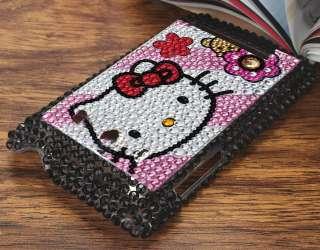 Hello Kitty Cat Bling Dorsal Case fit HTC Sprint EVO 4G