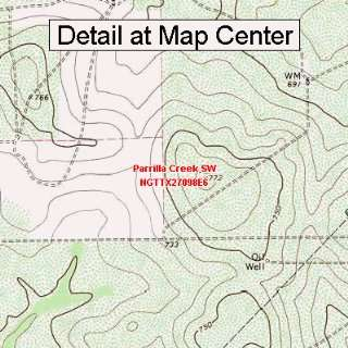 USGS Topographic Quadrangle Map   Parrilla Creek SW, Texas
