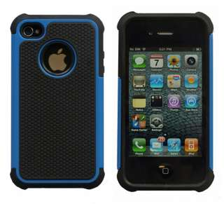 Executive Armor iPhone 4G 4S High Impact Combo Hard Soft Case Gel