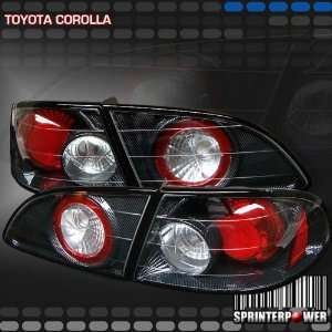 Toyota Corolla Tail Lights Carbon Fiber Altezza Taillights 1998