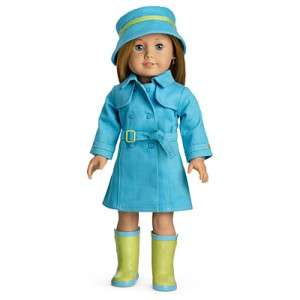 My American Girl RAINCOAT & BOOTS SET McKenna, Kanani, Lanie, Julie