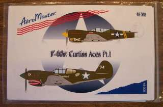 AEROMASTER DECALS 1/48 P 40 CURTISS ACES PT I #48 308 WARHAWK P 40E/P
