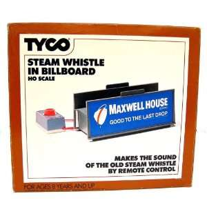 TYCO Steam Whistle Billboard HO Scale Maxwell House Coffee