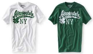 Aeropostale mens graphic NY St. Patricks theme t shirt   Style 3825