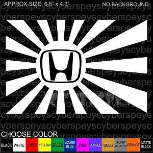 Rising Sun . Honda Logo Stickers Car Vinyl Decals JDM