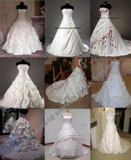 In Stock New White Ivory Bridal Wedding Dresses Size 6 8 10 12 14 16
