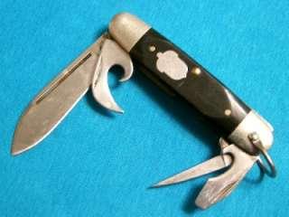 AG RUSSELL 4BL BOY SCOUTS SPORTSMANS SURVIVAL JACK KNIFE KNIVES ETCH