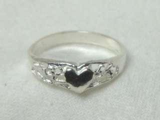 Child Baby Sterling Silver Filigree Heart Ring SZ 1 r52