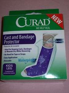 Curad Cast & Bandage Protector qty2 kids reusable NEW