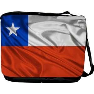 Rikki KnightTM Chile Flag Messenger Bag   Book Bag