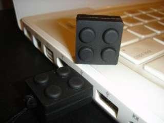 2GB Brick Flash Drive Memory Stick w Lego Bulb Keychain