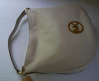 248 Michael Kors Fulton Large Shoulder Bag Vanilla