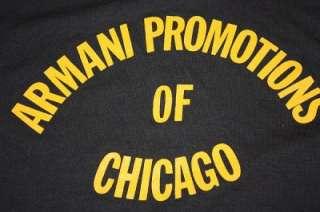 vtg 80s ARMANI PROMOTIONS Chicago shirt * SCREEN STARS * soft & thin