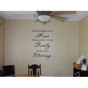 Having Someplace To Go Is Home Vinyl Wall Decal