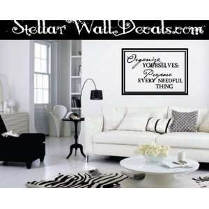Christian Vinyl Wall Decal Mural Quotes Words Cl020organizeii7