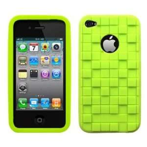 Lime Green Cubed Silicone Case / Skin / Cover for AT&T