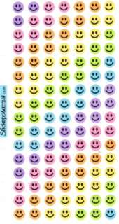 Sticko Pastel Sparkle Smiley Faces Reward Stickers