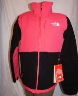 North Face WOMENS SMALL Denali Fleece JACKET Retro Pink/Black NWT