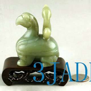 Natural Nephrite Jade Carving Sea Monster Figurine