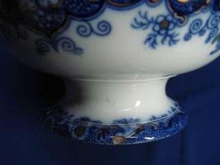 BLUE POLYCHROME PUNCH BOWL WHAMPOA PAT MELLOR VENDELES 1845