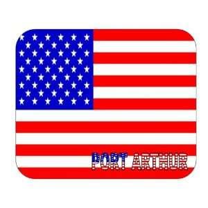 US Flag   Port Arthur, Texas (TX) Mouse Pad Everything