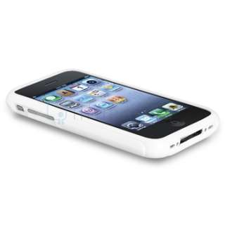 TPU Fitted Case Cover Skin for iphone 3G/3GS S in White S Line Shape