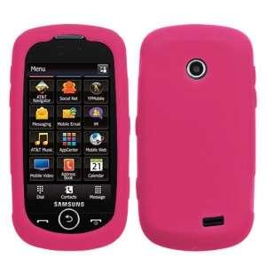 Hot Pink Silicone SKIN Case Cover Samsung Solstice II SGH A817