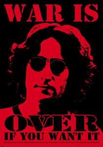 Vinyl Sticker The Beatles John Lennon War Is Over