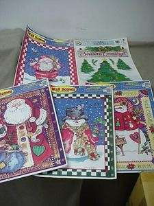 NEW CHRISTMAS WINDOW CLINGS STICKERS DECALS WALL SCENES SANTA SNOWMAN